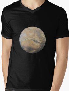 Mars Drawing Mens V-Neck T-Shirt