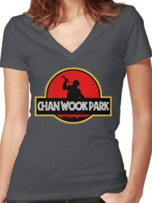 Chan Wook Park Women's Fitted V-Neck T-Shirt