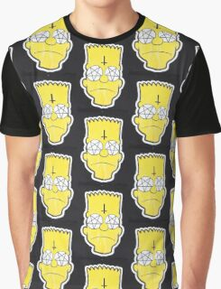 Crazy Bart Simpson Print Graphic T-Shirt