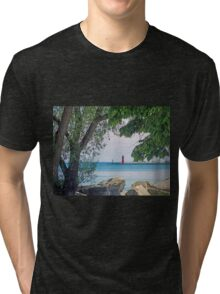 Summertime Along Lake Michigan Tri-blend T-Shirt