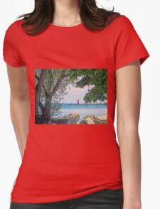 Summertime Along Lake Michigan Womens Fitted T-Shirt