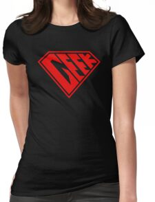 Geek Power (Transparent) Womens Fitted T-Shirt