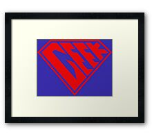 Geek Power (Transparent) Framed Print