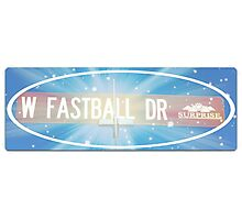 Fastball Drive Photographic Print