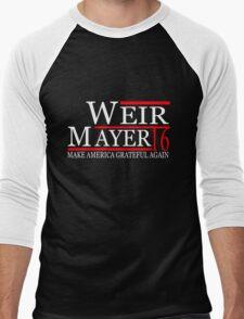 Weir Mayer 2016 Make America Grateful Again Men's Baseball ¾ T-Shirt