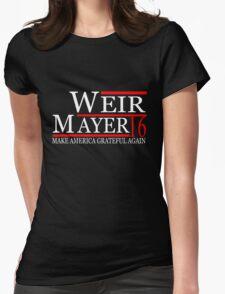 Weir Mayer 2016 Make America Grateful Again Womens Fitted T-Shirt