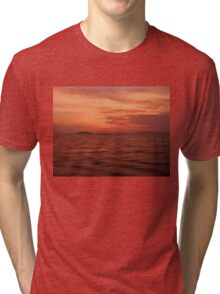 Land on Sea when sunset Tri-blend T-Shirt