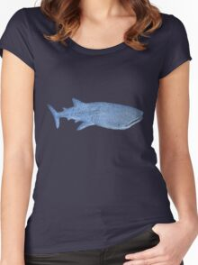 Whale Shark Drawing Women's Fitted Scoop T-Shirt
