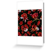 Sweet Red Garden Greeting Card