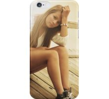 Attractive blonde girl iPhone Case/Skin