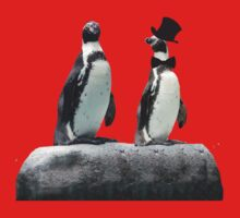 Penguin with a Top Hat with Bow Tie One Piece - Long Sleeve