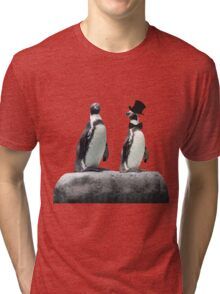 Penguin with a Top Hat with Bow Tie Tri-blend T-Shirt