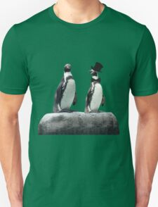 Penguin with a Top Hat with Bow Tie Unisex T-Shirt