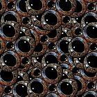 Alien Eyes Pattern by DFLC Prints