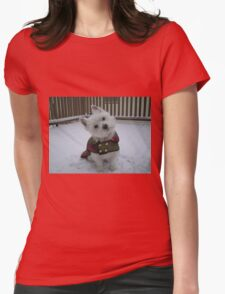 Winter Winnie Womens Fitted T-Shirt