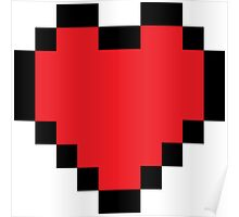 Pixelated heart Poster