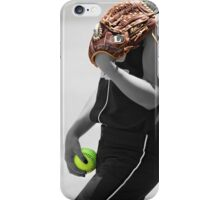 Contrast colors black and white Portrait  iPhone Case/Skin