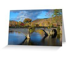 Bridge of Flowers in Shelburne Falls, Massachusetts. Greeting Card