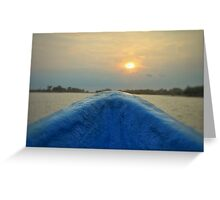 Going to the Sunset Greeting Card