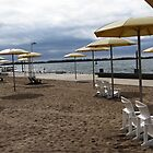 Beach Umbrellas and Chairs by Marie Van Schie