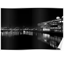 The Clyde at Night Poster