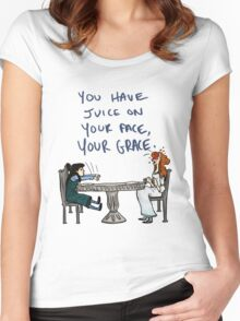 You Have Juice on Your Face Women's Fitted Scoop T-Shirt