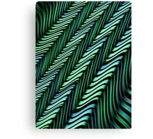 Green and Blue Folds Canvas Print
