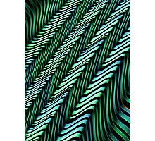 Green and Blue Folds Photographic Print