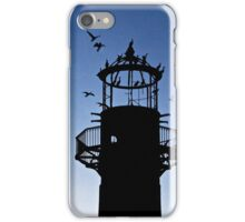 Cormorants Roosting on the Lighthouse iPhone Case/Skin