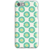 Blue doodle flower simple pattern.Hand drawn cute seamless background. iPhone Case/Skin