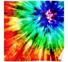 Tie Dye Meets Watercolor Poster