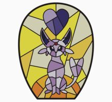 Twitch Plays Pokemon - Breakfast Burrito the Umbreon Stained Glass by KatyM