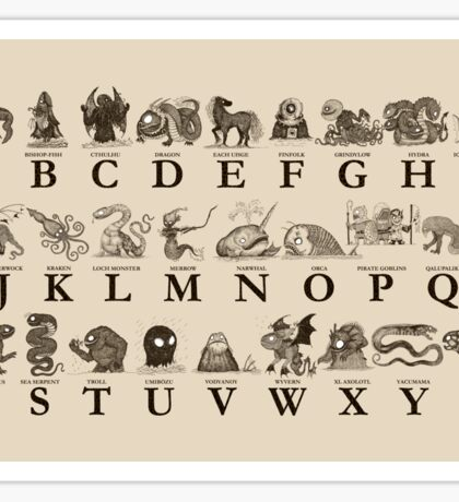 Sea Monster Alphabet Sticker