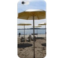 Golden Beach Umbrellas iPhone Case/Skin