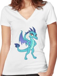 Princess Ember (My Little Pony) Women's Fitted V-Neck T-Shirt