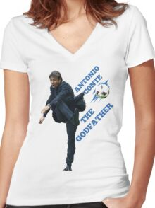 Antonio Conte - The Godfather Women's Fitted V-Neck T-Shirt