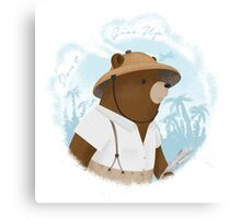 Bear Adventures Canvas Print