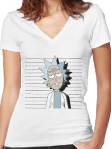 Rick and Morty T-shirt - funny shirt  Women's Fitted V-Neck T-Shirt