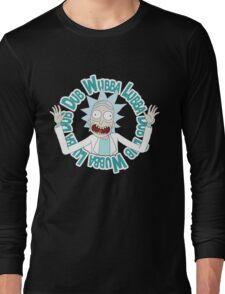 Rick and Morty T-shirt - Funny Wuaba shirt  Long Sleeve T-Shirt