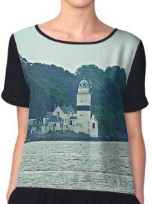 Cloch Lighthouse, Gourock, River Clyde, Scotland  Chiffon Top