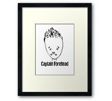 Captain Forehead Framed Print
