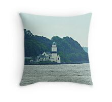 Cloch Lighthouse, Gourock, River Clyde, Scotland  Throw Pillow