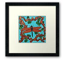 Copper dragonfly Framed Print