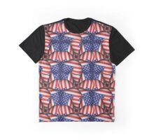 Modern Usa Flag Pattern Graphic T-Shirt
