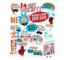 Rick and Morty T-shirt - get your funny shirt  Photographic Print