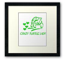 Crazy Turtle Lady Framed Print