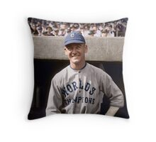 George Burns, Cleveland Indians 1921 Throw Pillow