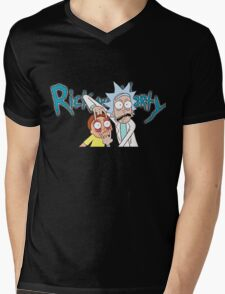 Rick and Morty T-shirt - funny shirt Morty and Rick  Mens V-Neck T-Shirt