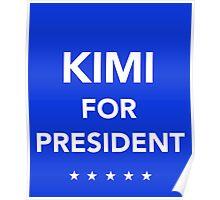 Kimi Raikkonen for President Poster
