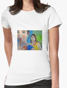 """""""Double Trouble"""" Womens Fitted T-Shirt"""
